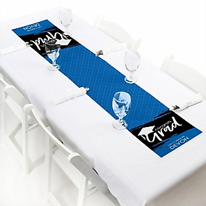 Blue Grad - Best is Yet to Come  - Personalized Graduation Party Petite Table Runner