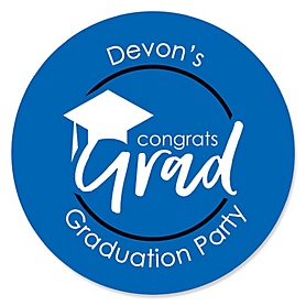 Blue Grad - Best is Yet to Come - Personalized Graduation Sticker Labels - 24 ct