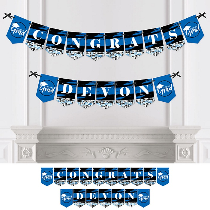 Blue Grad - Best is Yet to Come - Personalized 2019 Graduation Party Bunting Banner & Decorations