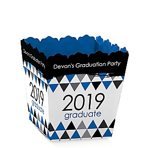 Blue Grad - Best is Yet to Come - Party Mini Favor Boxes - Personalized 2019 Graduation Treat Candy Boxes - Set of 12