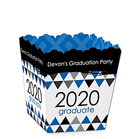 Blue Grad - Best is Yet to Come - Party Mini Favor Boxes - Personalized 2020 Graduation Treat Candy Boxes - Set of 12