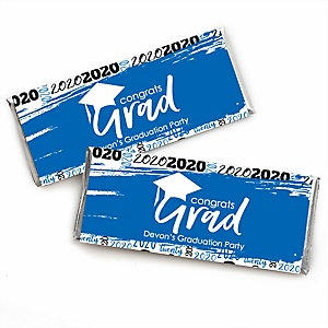 Blue Grad - Best is Yet to Come - Personalized 2020 Candy Bar Wrappers Graduation Party Favors - Set of 24