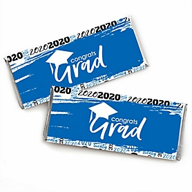Blue Grad - Best is Yet to Come -  2020 Candy Bar Wrappers Graduation Party Favors - Set of 24