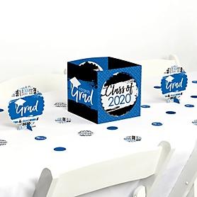 Blue Grad - Best is Yet to Come - 2020 Graduation Party Centerpiece & Table Decoration Kit