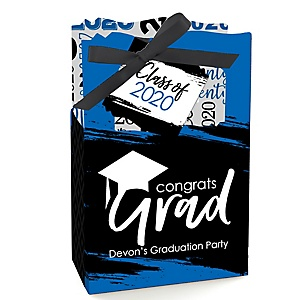 Blue Grad - Best is Yet to Come - Personalized 2020 Graduation Favor Boxes - Set of 12