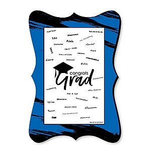 Blue Grad - Best is Yet to Come - Unique Alternative Guest Book - Graduation Party Signature Mat