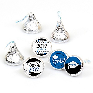 Blue Grad - Best is Yet to Come - Round Candy Labels 2019 Graduation Party Favors - Fits Hershey's Kisses 108 ct