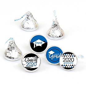 Blue Grad - Best is Yet to Come - Round Candy Labels 2020 Graduation Party Favors - Fits Hershey's Kisses 108 ct