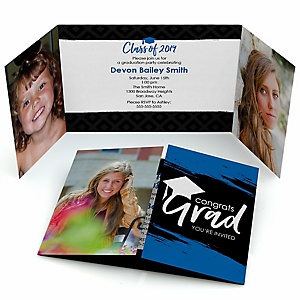Blue Grad - Best is Yet to Come - Personalized Photo 2019 Graduation Invitations - Set of 12