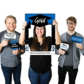 Blue Grad - Best is Yet to Come - Personalized Graduation Party Selfie Photo Booth Picture Frame & Props - Printed on Sturdy Material