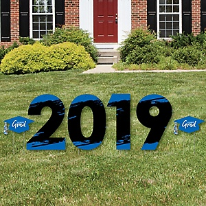 Blue Grad - Best is Yet to Come - 2019 Yard Sign Outdoor Lawn Decorations - Blue Graduation Party Yard Signs - 2019