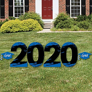 Blue Grad - Best is Yet to Come - 2020 Yard Sign Outdoor Lawn Decorations - Blue Graduation Party Yard Signs - 2020