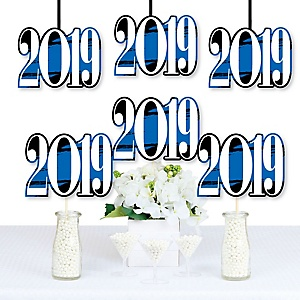 Blue Grad - Best is Yet to Come - 2019 Decorations DIY Blue Graduation Party Essentials - Set of 20