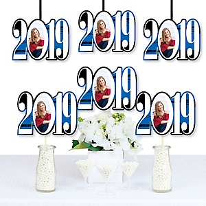 Blue Grad - Best is Yet to Come - 2019 Photo Decorations DIY Party Essentials - Set of 20