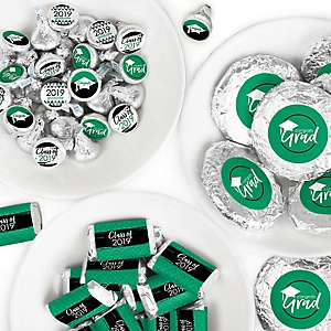 Green Grad - Best is Yet to Come - Mini Candy Bar Wrappers, Round Candy Stickers and Circle Stickers - 2019 Green Graduation Party Candy Favor Sticker Kit - 304 Pieces