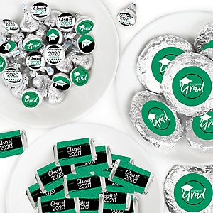 Green Grad - Best is Yet to Come - Mini Candy Bar Wrappers, Round Candy Stickers and Circle Stickers - 2020 Green Graduation Party Candy Favor Sticker Kit - 304 Pieces