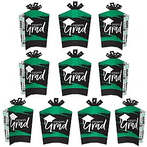 Green Grad - Best is Yet to Come - Table Decorations - 2020 Green Graduation Party Fold and Flare Centerpieces - 10 Count