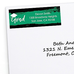 Green Grad - Best is Yet to Come - Personalized Graduation Return Address Labels - 30 ct