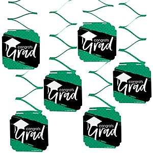Green Grad - Best is Yet to Come - Graduation Party Hanging Decorations - 6 ct
