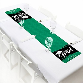 Green Grad - Best is Yet to Come  - Personalized Graduation Party Petite Table Runner