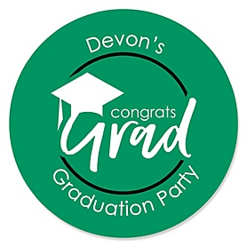 Green Grad - Best is Yet to Come - Personalized Graduation Sticker Labels - 24 ct