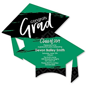 Green Grad - Best is Yet to Come - Personalized 2019 Graduation Invitations - Set of 12