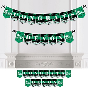 Green Grad - Best is Yet to Come - Personalized 2019 Graduation Party Bunting Banner & Decorations