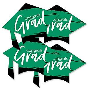 Green Grad - Best is Yet to Come - Grad Cap Decorations DIY Green Graduation Party Essentials - Set of 20