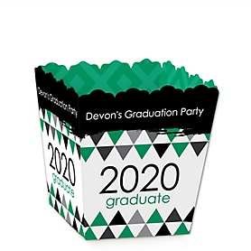 Green Grad - Best is Yet to Come - Party Mini Favor Boxes - Personalized 2020 Graduation Treat Candy Boxes - Set of 12