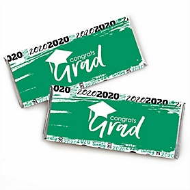 Green Grad - Best is Yet to Come -  2020 Candy Bar Wrappers Graduation Party Favors - Set of 24