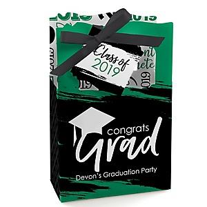 Green Grad - Best is Yet to Come - Personalized 2019 Graduation Favor Boxes - Set of 12