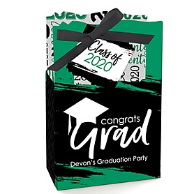 Green Grad - Best is Yet to Come - Personalized 2020 Graduation Favor Boxes - Set of 12
