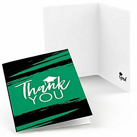 Green Grad - Best is Yet to Come - Graduation Party Thank You Cards - 8 ct