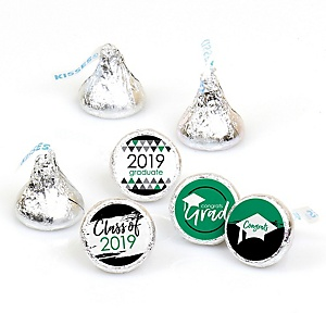 Green Grad - Best is Yet to Come - Round Candy Labels 2019 Graduation Party Favors - Fits Hershey's Kisses 108 ct