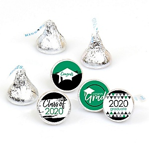 Green Grad - Best is Yet to Come - Round Candy Labels 2020 Graduation Party Favors - Fits Hershey's Kisses 108 ct