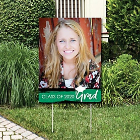 Green Grad - Best is Yet to Come - Photo Yard Sign - Green 2020 Graduation Party Decorations