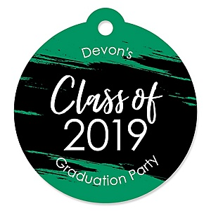 Green Grad - Best is Yet to Come - Round Personalized 2019 Graduation Party Die-Cut Tags - 20 ct