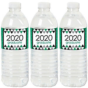 Green Grad - Best is Yet to Come - 2020 Green Graduation Party Water Bottle Sticker Labels - Set of 20