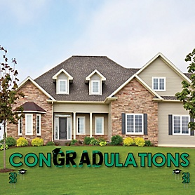 conGRADulations - Green Grad - Best is Yet to Come - Yard Sign Outdoor Lawn Decorations - Green 2020 Graduation Party Yard Signs