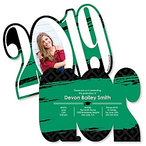 Green Grad - Best is Yet to Come - Personalized 2019 Photo Graduation Announcement - Set of 12