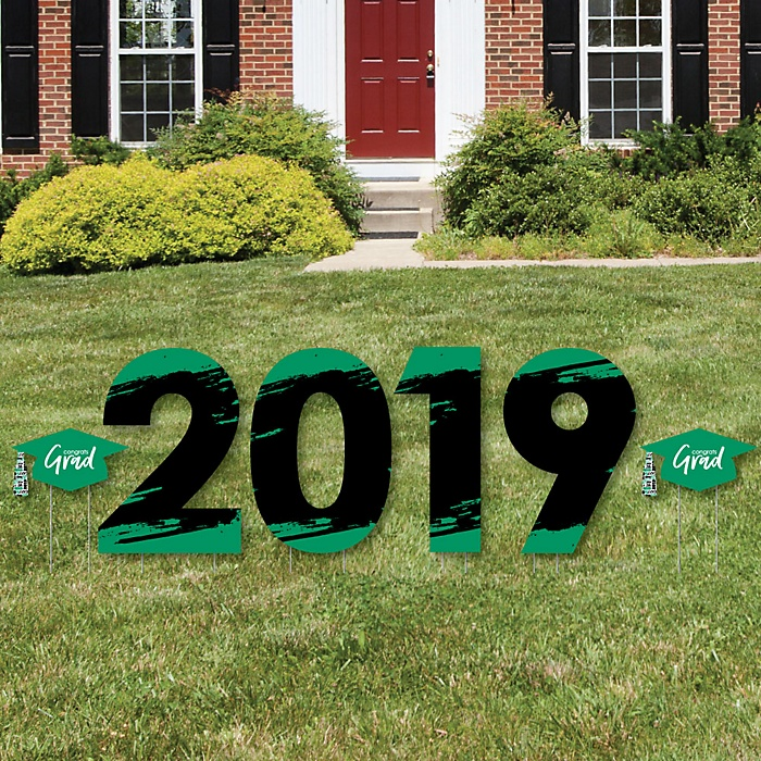 Green Grad - Best is Yet to Come - 2019 Yard Sign Outdoor Lawn Decorations - Green Graduation Party Yard Signs - 2019