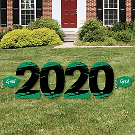 Green Grad - Best is Yet to Come - 2020 Yard Sign Outdoor Lawn Decorations - Green Graduation Party Yard Signs - 2020