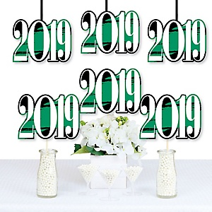 Green Grad - Best is Yet to Come - 2019 Decorations DIY Green Graduation Party Essentials - Set of 20