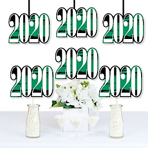 Green Grad - Best is Yet to Come - 2020 Decorations DIY Green Graduation Party Essentials - Set of 20