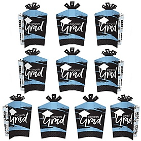Light Blue Grad - Best is Yet to Come - Table Decorations - 2020 Light Blue Graduation Party Fold and Flare Centerpieces - 10 Count