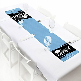 Light Blue Grad - Best is Yet to Come  - Personalized Graduation Party Petite Table Runner