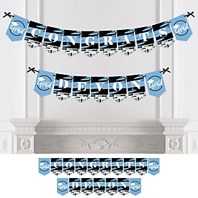 Light Blue Grad - Best is Yet to Come - Personalized 2020 Graduation Party Bunting Banner & Decorations