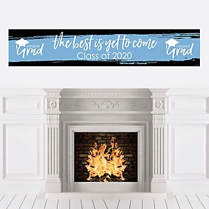 Light Blue Grad - Best is Yet to Come - Personalized Light Blue Graduation Party Banner