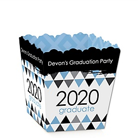 Light Blue Grad - Best is Yet to Come - Party Mini Favor Boxes - Personalized 2020 Graduation Treat Candy Boxes - Set of 12