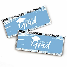 Light Blue Grad - Best is Yet to Come -  Candy Bar Wrappers Graduation Party Favors - Set of 24